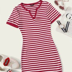 Dresses & Skirts - Stripped Red Dress